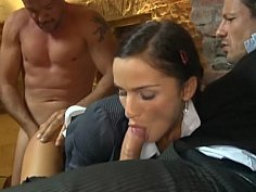 A panty sniffing sweeper finds his young victim