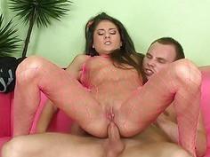 Babe with large anal gape enjoys hardcore rimming