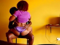 Nasty African babes in wild lesbian action