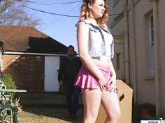 Pretty busty Star Del Ray sweet teen pussy pounded