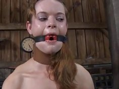 Facial torture for enchanting babe