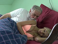 Older husband knows how to make his teen