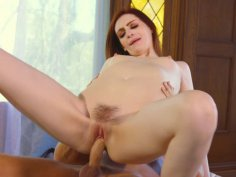 Redhead Maya Kendrick gets fucked reverse cowgirl style