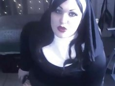 Lustful dirty talking nun Lola