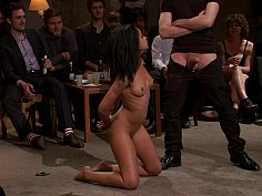 Young black girl Skin Diamond gets gangbanged in front of ppl