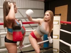 Boxing Lesbians Tribbing In The Ring
