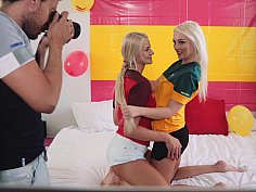 Erotic photo session of horny soccer fans