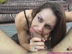 Newbie Milf Nora Noir Gives First Porn Deep Throat