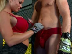 Sexy blonde Nikki D blows dick and fucks athletic stud Connor Maguire
