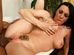 Sweet milf is giving stud a wet oraljob sucking