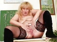Wellendowed Wifey teacher fucks herself plus a ad