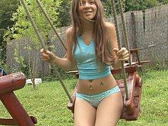 Sweety on a swing