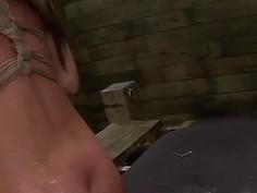 Esmi Lee Earns a Facial After Rope Bondage Rough Sex Session