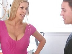 Laundy day fun and stepson cock for sexy MILF Alexis Fawx