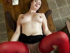 Huge boobies Eurobabe banged for money