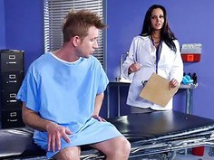 Dr Ava Addams goes on top of Bill Bailey